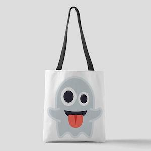 Ghost Emoji Polyester Tote Bag