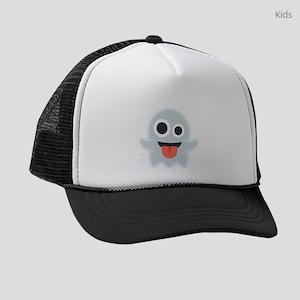 Ghost Emoji Kids Trucker hat