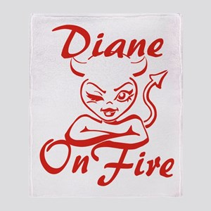 Diane On Fire Throw Blanket