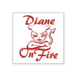 Diane On Fire Square Sticker 3