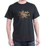 Fire/Chrome Glass Hammer Splash Logo Black T-Shirt