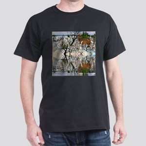 Farm Deer Reflection Dark T-Shirt