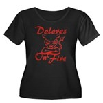 Dolores On Fire Women's Plus Size Scoop Neck Dark