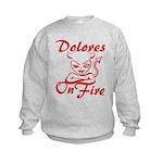 Dolores On Fire Kids Sweatshirt