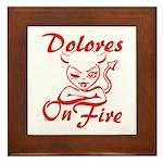 Dolores On Fire Framed Tile