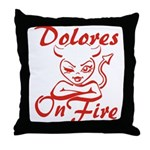Dolores On Fire Throw Pillow