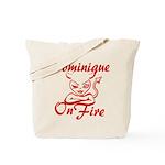 Dominique On Fire Tote Bag