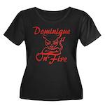 Dominique On Fire Women's Plus Size Scoop Neck Dar