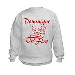 Dominique On Fire Kids Sweatshirt
