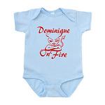 Dominique On Fire Infant Bodysuit