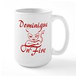 Dominique On Fire Large Mug