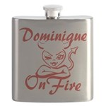 Dominique On Fire Flask