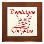 Dominique On Fire Framed Tile