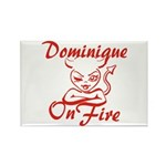 Dominique On Fire Rectangle Magnet