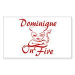 Dominique On Fire Sticker (Rectangle)