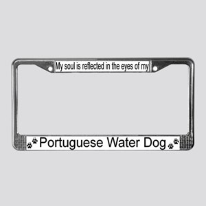 """Portuguese Water Dog""License Plate Frame"