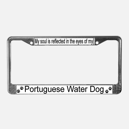 """""""Portuguese Water Dog""""License Plate Frame"""
