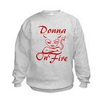 Donna On Fire Kids Sweatshirt