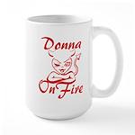 Donna On Fire Large Mug
