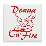 Donna On Fire Tile Coaster