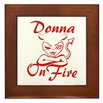 Donna On Fire Framed Tile