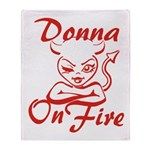 Donna On Fire Throw Blanket
