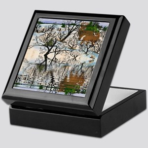 Farm Deer Reflection Keepsake Box