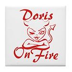Doris On Fire Tile Coaster