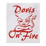 Doris On Fire Throw Blanket