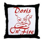 Doris On Fire Throw Pillow