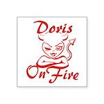 Doris On Fire Square Sticker 3