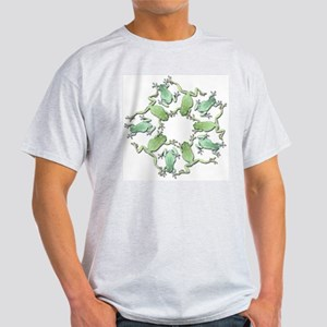 Circle of White's Tree Frogs Ash Grey T-Shirt
