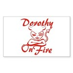 Dorothy On Fire Sticker (Rectangle)