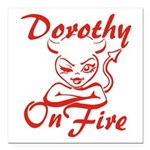 Dorothy On Fire Square Car Magnet 3