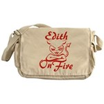 Edith On Fire Messenger Bag