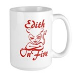 Edith On Fire Large Mug
