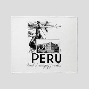 Visit Peru Throw Blanket