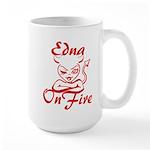 Edna On Fire Large Mug