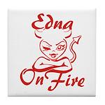 Edna On Fire Tile Coaster