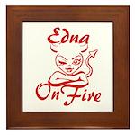 Edna On Fire Framed Tile