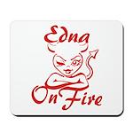 Edna On Fire Mousepad