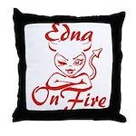 Edna On Fire Throw Pillow
