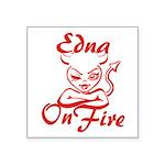 Edna On Fire Square Sticker 3