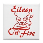 Eileen On Fire Tile Coaster