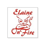 Elaine On Fire Square Sticker 3