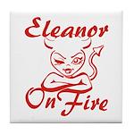 Eleanor On Fire Tile Coaster
