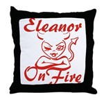 Eleanor On Fire Throw Pillow
