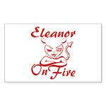 Eleanor On Fire Sticker (Rectangle)