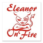 Eleanor On Fire Square Car Magnet 3