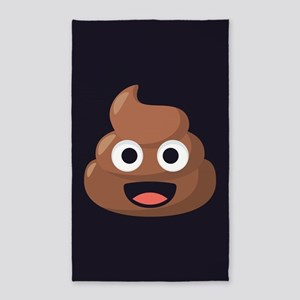 Poop Emoji Area Rug